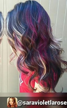 Blonde purple highlights idea dyed hair inspiration