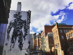 Impressive #street #art on Aire Street in #Leeds. #Yorkshire #England #MetalGear #painting #mural #graffiti #city #urban #culture #IgersLeeds #Leeds2023 #leisure #life #travel #tourism #tourist