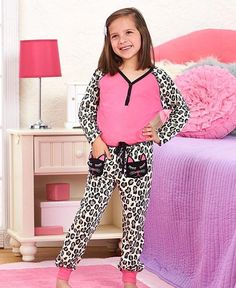 Girls Cat Pajama's 2 Pc Set Sleepwear Sizes 5/6 7/8 10/12 and 14/16  #Unbranded #PajamaSet