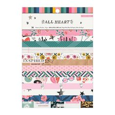 Create from the heart with the All Heart Collection 6 Heart Projects, All Heart, Crate Paper, Pattern Paper, Crates, Embellishments, Craft Supplies, Stripes, Scrapbooking