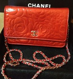 Fashion Accessory - Chanel Red Camellia Wallet On Chain Bag