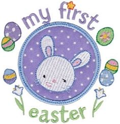 First Timer 11 Applique, First Easter - 2 Sizes! | Easter | Machine Embroidery Designs | SWAKembroidery.com Bunnycup Embroidery