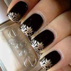 Neat Black Nails With Gold Leaves Pictures, Photos, and Images for Facebook, Tumblr, Pinterest, and Twitter  The post  Black Nails With Gold Leaves Pictures, Photos, and Images for Facebook, Tumblr, …  appeared first on  Nails .