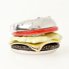 Silver Cheeseburger Ring - each layer is separate - check it out on their website!