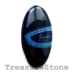 Cabochon, agate (dyed), 18x36mm oval. TreasureStone Beads Edmonton