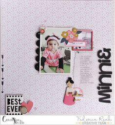 "scrapbook layout | ""minnie"" by kushi per creative Studio www.kkushi.com    #scrapbooking #scrapbooklayout #layout12x12 #creativestudioshop"