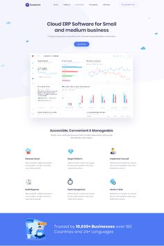 Saasland is a creative WordPress theme for saas, software, startup, mobile app, agency and related products & services. App Landing Page, Landing Page Design, Wordpress Theme Design, Best Wordpress Themes, Web Design, Graphic Design, Logo Design, Web Layout, Layout Design