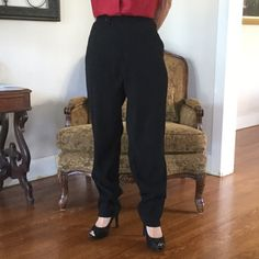 """Just InBlack Dress Slacks A very nice pair of Dress Slacks to go with everything. Note closeup pics for subtle cord-like weave. Front fly zipper with tab closure. Hip pockets lay flat. Small 1"""" Slit at outer ankle. Measurements: 29"""" waist; 12"""" rise; 31"""" inseam. NWOT. Perfect condition. Never worn as a bit too big for me. Field Gear Pants Straight Leg"""