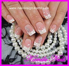 white marble tips   (polish)