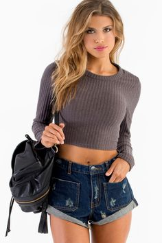 Monica Crop Sweater