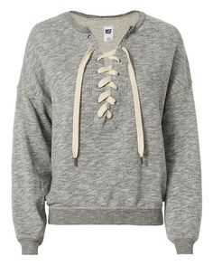 It's comfy sweater season! Check out this NSF Lace-Up Sweatshirt.