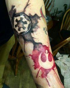 Star Wars Watercolor Tattoo