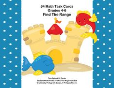 This product gives your students review and practice in finding the range in a given set of numbers. There are two set of 32 task cards and a reminder poster on how to find the range.This collection of task cards will help your students build fluency in this skill.