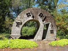 """It's called the Twisted House. The kids loved it! It's found at the Indianapolis Art Center on their grounds called """"Artspark"""