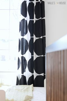 What I Made From a Bed Sheet Marimekko curtains