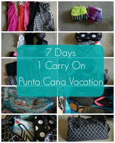 How to Pack for One Week in a Carry On for Punta Cana, Dominican Republic