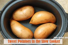 Sweet Potatoes in the Slow Cooker - So creamy and buttery-like you will never cook sweet potatoes any other way again!