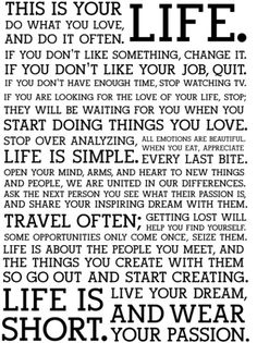 This is amazingly accurate. Life's priorities ✌ Live. Love. Learn