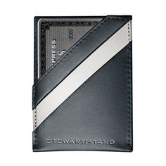 Leather Tech Magnetic Money Clip Card Case Wallet with RFID Blocking by Stewart/Stand