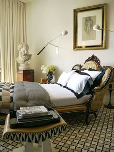 Custom bed made from Victorian sofa