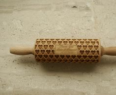 Folklore hipi natural wedding  mini rolling pins with names of bride and groom with wedding date as a thank you gift or a table decoration.