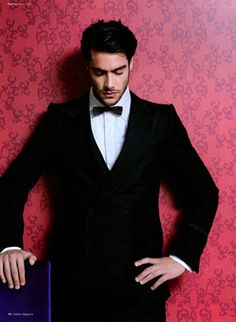 Goncalo Teixeira ...in a tux.....serious arm candy. He gets a 10.