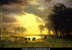BUFFALO TRAIL THE IMPENDING STORM 1869 PAINTING BY ALBERT BIERSTADT REPRO
