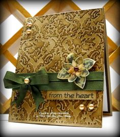 Love the embossing!  ~Designed by Holly McMillen