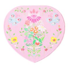 Lily & Ally / Floral Damask Butterfly Heart Musical Jewelry Box, with Melody of The Marriage of Figaro