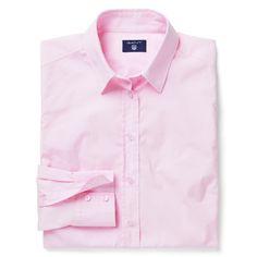 GANT - Stretch Cotton Skjorta Light Pink för Dam | Officiell Sida