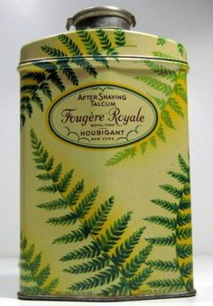 Vintage Houbigant Fougere Royale After Shave Talc TIN Vintage Groom, Vintage Tins, Vintage Makeup, Vintage Beauty, Body Powder, Pretty Box, Tin Toys, Vintage Perfume, After Shave
