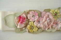 Millinery Flower Sash