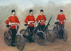 Cyclists Of The Lancashire Fusiliers From The Book South Africa And The Transvaal War By Louis Creswicke Published 1900 Canvas Art - Ken Welsh Design Pics x Fine Art Prints, Framed Prints, Canvas Prints, Canvas Art, British Army Uniform, British Uniforms, Wild Animals Photos, Cycling Art, Tanks