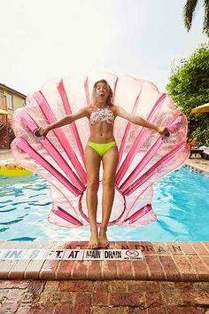 Pool Floats for Summer-- Mermaid Shell Pool float perfect for parties
