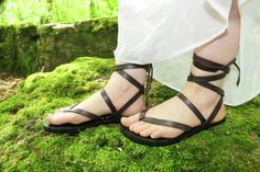 Custom Handmade Leather Sandals strappy by DarkSideofNorway