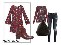 #Marsala. El color de la temporada. Consigue el look con @SURKANA @Pikolinos_Shoes @mambomadrid y @SocialAzura