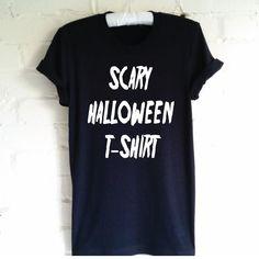 Scary Halloween T-Shirt. Scary T-Shirt. Unisex T-Shirt. Men Women. Spooky Shirt. Trick or Treat. Ghost Shirt. by SoPinkUK on Etsy