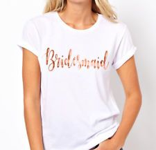 Hens Night Party Iron On Transfer ROSE GOLD - BRIDESMAID