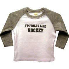 robeez baby shoes hockey | ... Told I Like Hockey Shirt - Bippity Boppity Baby | Robeez Baby Shoes