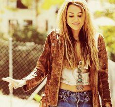 Miley Cyrus Bohemian boho chic