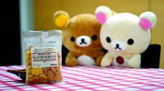 staring at Muji cookies