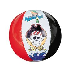 Inflatable Color Your Own Pirate Beach Balls - OrientalTrading.com