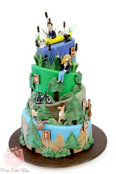 hiking themed cake - Google Search