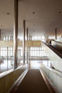 Restauro cassino map - museu de arte da pampulha. Projeto de restauro: Horizontes Arquitetura. Projeto original: Oscar  Niemeyer