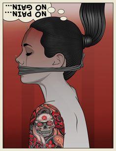 Printer's Devil - Alternative Pop-Art by Matt Edwards, via Behance