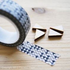 Washi | Black/White Triangle