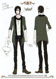 kuroshitsuji character design #sebastian
