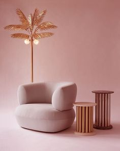 We're bringing back the swivel chair...outtake of our new Puffer chair