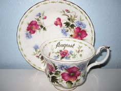 Royal Albert, Bone China, August Flower of the Month Series Teacup set | eBay