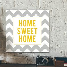 Placa decorativa - Sweet Home